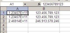 formato númerico en Excel