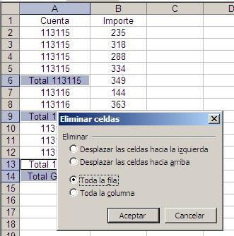 Selecciones múltiples en Excel