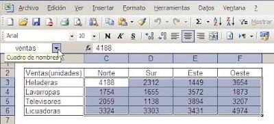 Excel celda en matriz