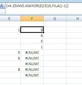 Excel elementos únicos y repetidos