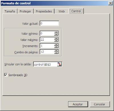 formulario delas propiedades del control