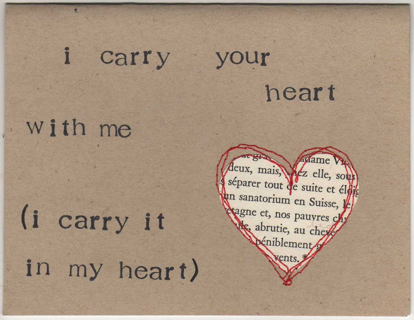 poem explication i carry your heart Poem explication the  he feels it is a small privilege to know that he does not have to carry every  6 these ill supposed glories made his heart feud with.