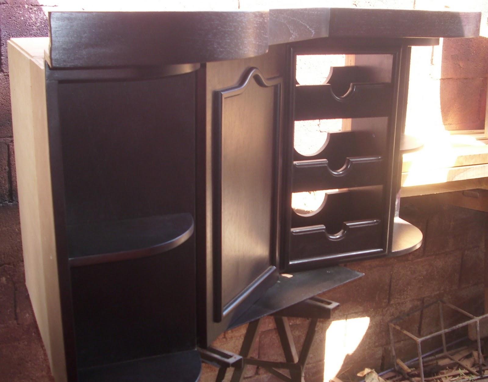Mis trabajos en madera Muebles modulares de cocina en marron oscuro