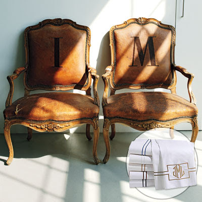 Isaac Mizrahi Monogram Pillows Chair Frog Hill Designs Blog