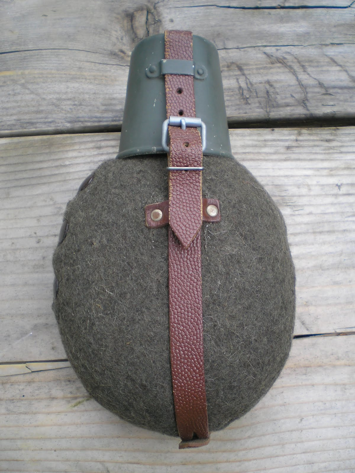 Used Surplus East German Military Canteen with Cup