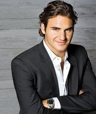 Roger Federer Medium Men Haircuts 2010