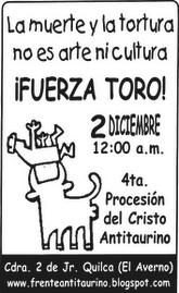 ABAJO LAS SANGUINARIAS CORRIDAS DE TOROS!!!