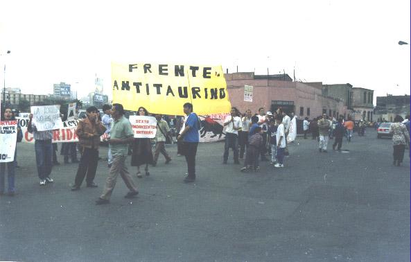 LAS PRIMERAS MARCHAS ANTI-TAURINAS EN ACHO