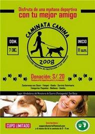 DOM. 7 de DIC. CAMINATA A FAVOR DE LOS ANIMALES EN SAN BORJA