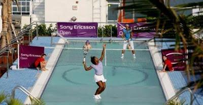 Serena Williams and Rafael Nadal - Tennis in water