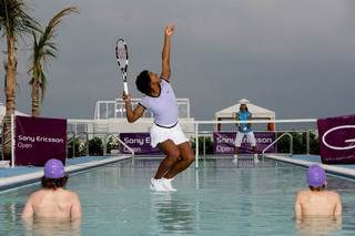 Serena Williams and Rafael Nadal - Tennis in water