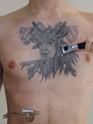 Creative Shaving tattoos