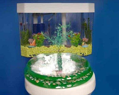Creative flush toilet Aquarium