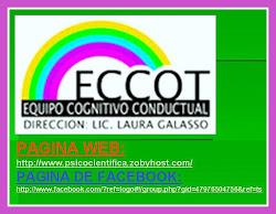 PAGINA WEB Y DE FACEBOOK EQUIPO COGNITIVO CONDUCTUAL