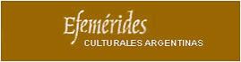 EFEMÉRIDES CULTURALES
