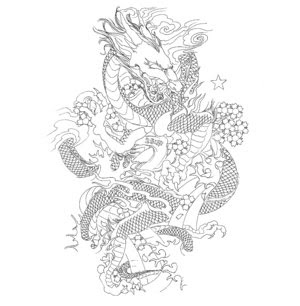 Japanese-Dragon-Tattoo-Flash