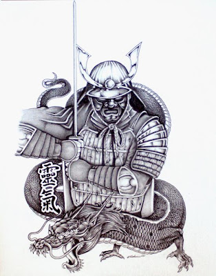 japanese samurai tattoo. Samurai Tattoo Design Japanese