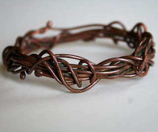 Tangle Bangle copper bracelet by Julie A. Brown Wabi Brook Studio