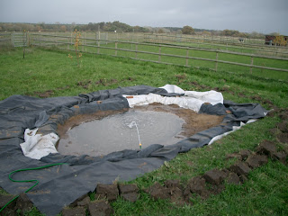 Filling the new pond