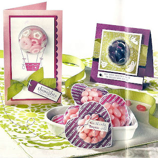 Sample projects made with Sweet Centers stamp set