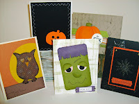 Halloween cards for Cards of the Month rubber stampers club