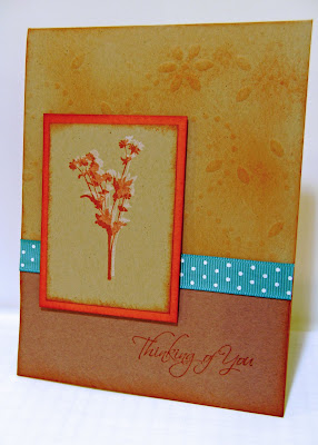 Embossed Fall Color Card