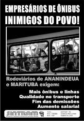 Campanha do SINTRAM em defesa de qualidade no transporte público