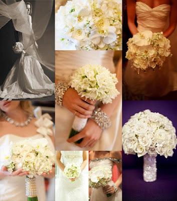 Weiß Blumensträuße