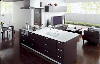 toto cuicia kitchen with living room 4 554x359 Cómo combinar la sala con la cocina