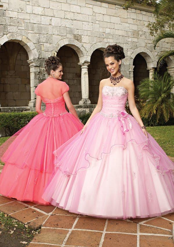 Vestido de 15 años de Color Rosado | Vestidos Para La Fiesta