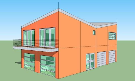 Plano de casa de 2 pisos 4 dormitorios y 160 metros for Dormitorio 9 metros cuadrados
