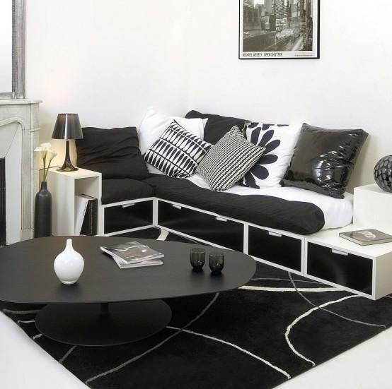 Dormitorios nico fotos de dormitorios im genes de for Disenos de interiores en blanco y negro