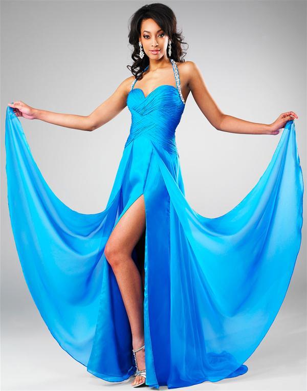 Vestidos de fiesta color azul celeste