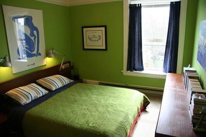 Decoraci n de habitaciones frescas y juveniles de colores - Habitaciones de color verde ...