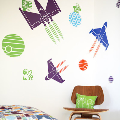 February Boys Room Makeover Games - Cool wall stickers to complete kids room decor