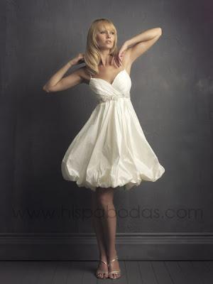 vestidos de noche cortos 2011. Vestidos de novia cortos 2011