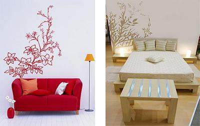 Paredes decoradas con flor4u luxury interior design for Decoracion de paredes con adhesivos