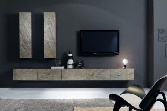 Salas de estar con muebles hechos de piedra decorando mejor - Muebles de salita de estar ...