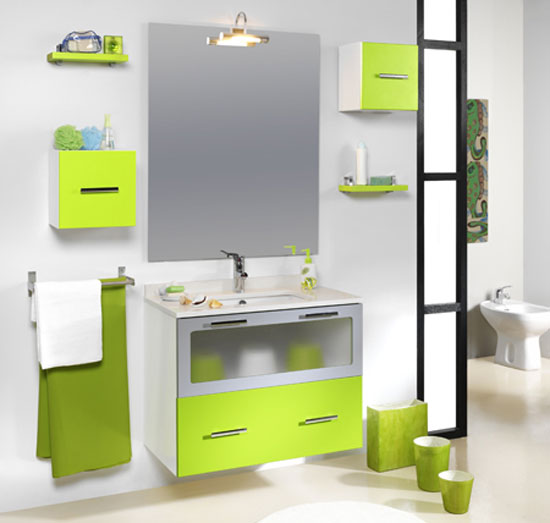 Decoracion de interiores: Baño de color verde  Travel-Click