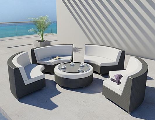 Isla de camas solares muebles lounge al aire libre | Luxury Interior ...