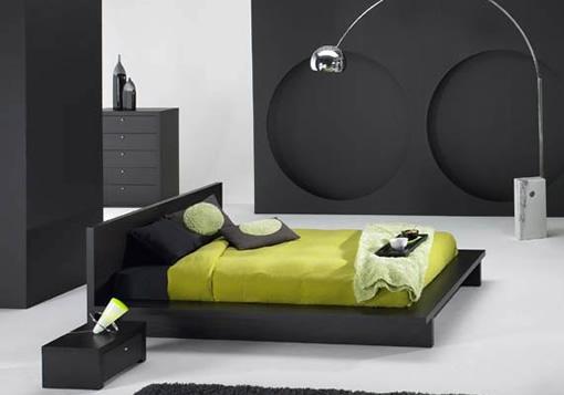 elija entre una cama de plataforma atractiva mesas de noche aparadores y los otomanos para completar su juego de dormitorio moderno