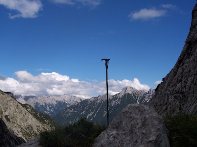 Leki Hiking Stick in the Alps