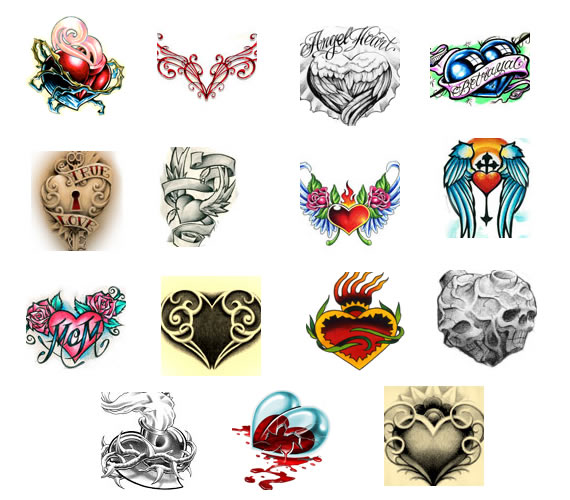 Banner Heart Tattoo- These types of heart tattoo designs are extremely