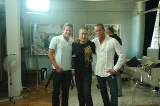 Robert Hintez of Beautiful People, Jing Liu of JUZD, Greg Hodge of Beautiful People