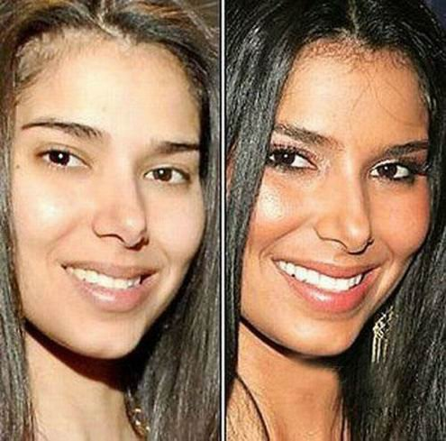 Celebrity without makeup before and after