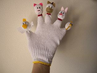 Animals glove (sold)
