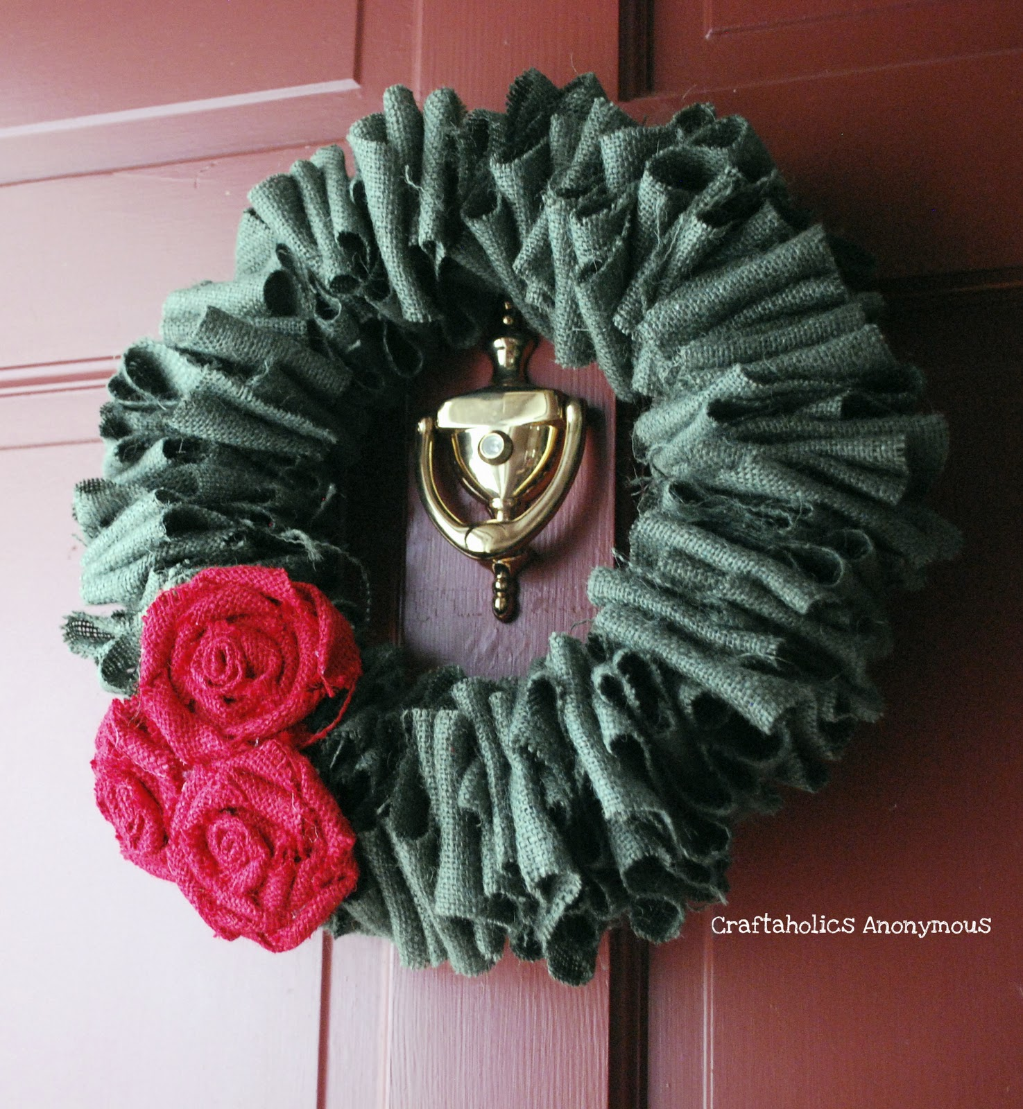 Burlap christmas wreath Burlap xmas wreath