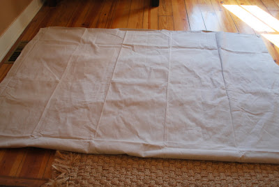 Wrinkled White Drop Cloth