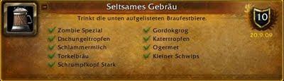 WoW Braufest Erfolg Achievement Seltsames Gebräu