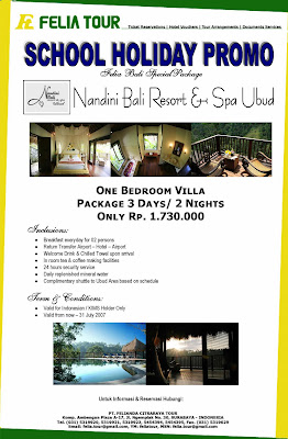 Felia School Holiday Promo at Nandini Bali Resort & Spa